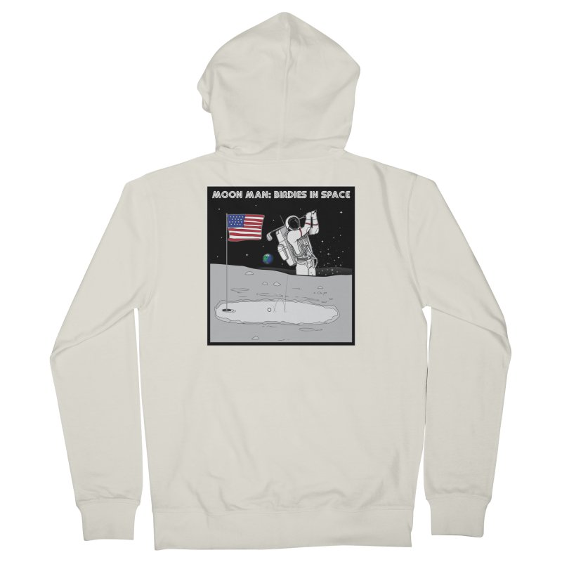 MOON MAN: Birdies in Space Men's French Terry Zip-Up Hoody by 9th Mountain Threads