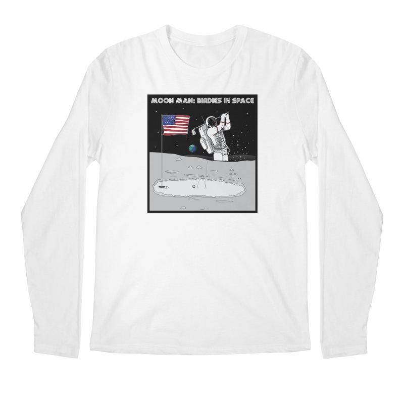 MOON MAN: Birdies in Space Men's Regular Longsleeve T-Shirt by 9th Mountain Threads