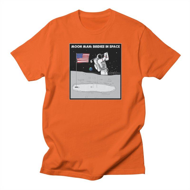 MOON MAN: Birdies in Space Women's Regular Unisex T-Shirt by 9th Mountain Threads