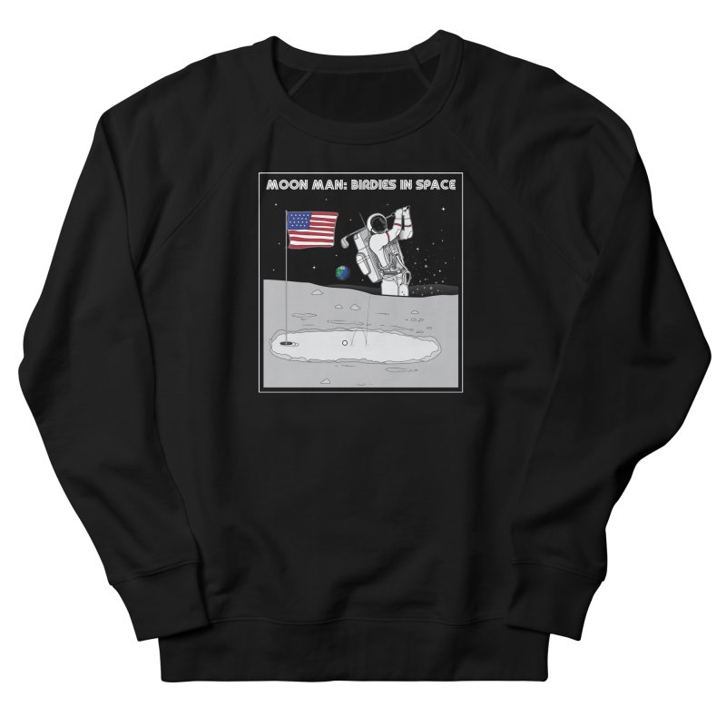 MOON MAN: Birdies in Space Men's French Terry Sweatshirt by 9th Mountain Threads