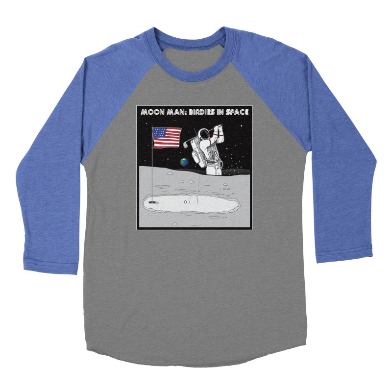 MOON MAN: Birdies in Space Men's Baseball Triblend Longsleeve T-Shirt by 9th Mountain Threads