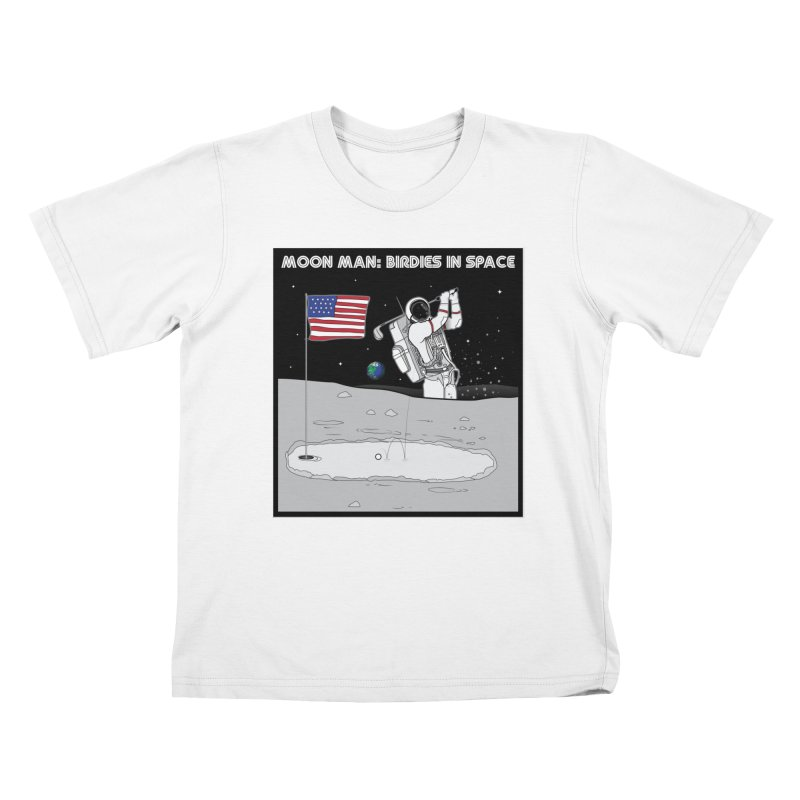 MOON MAN: Birdies in Space Kids T-Shirt by 9th Mountain Threads