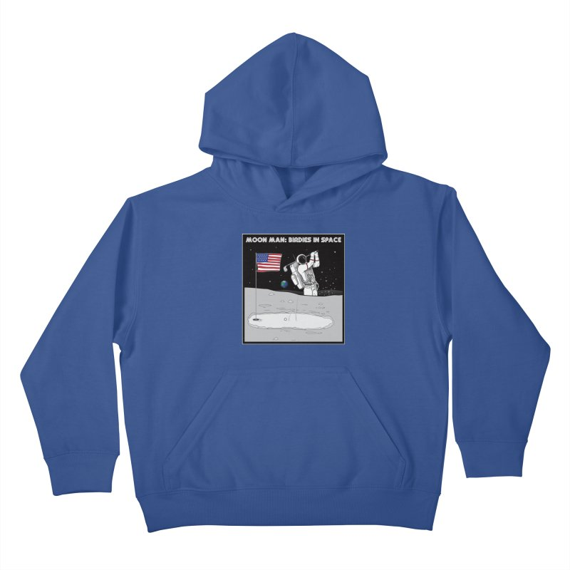MOON MAN: Birdies in Space Kids Pullover Hoody by 9th Mountain Threads