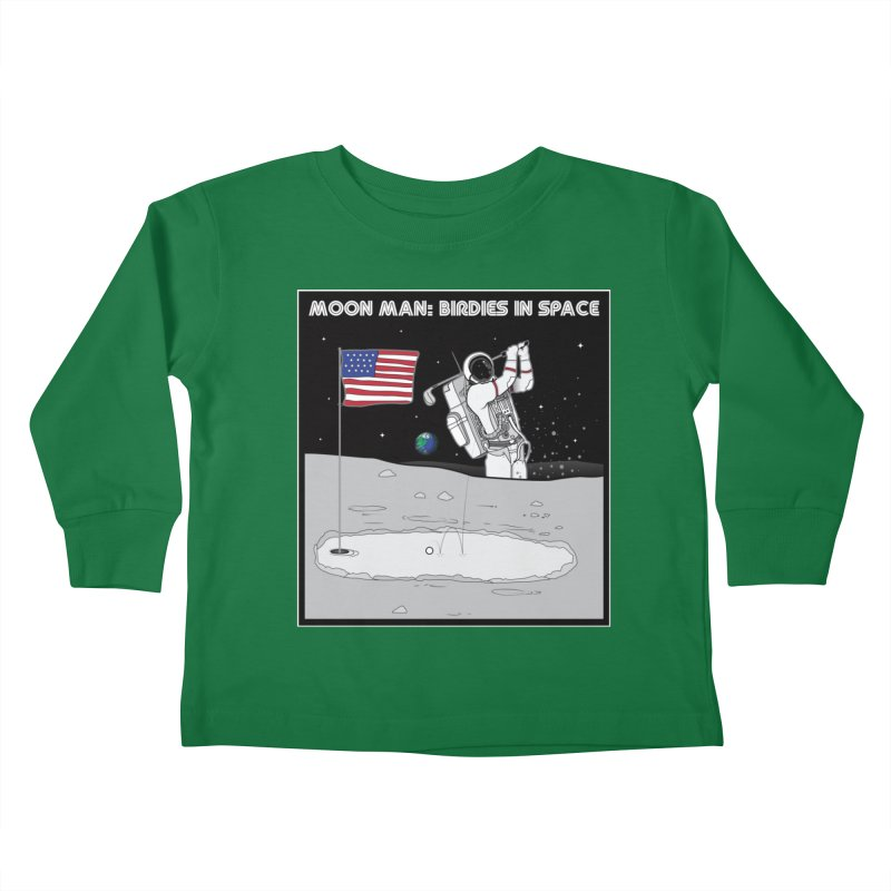 MOON MAN: Birdies in Space Kids Toddler Longsleeve T-Shirt by 9th Mountain Threads