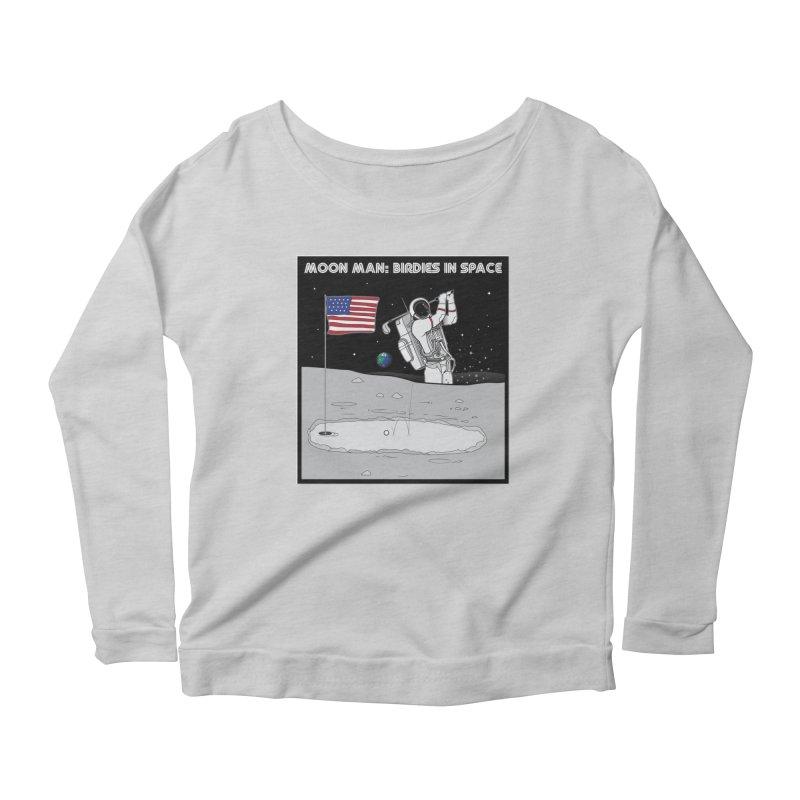 MOON MAN: Birdies in Space Women's Scoop Neck Longsleeve T-Shirt by 9th Mountain Threads