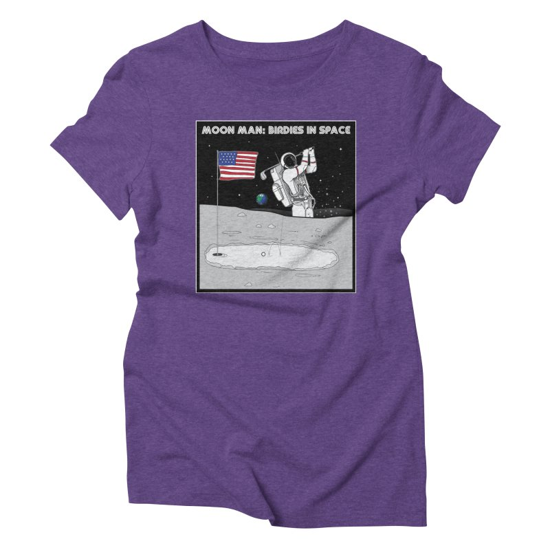 MOON MAN: Birdies in Space Women's Triblend T-Shirt by 9th Mountain Threads