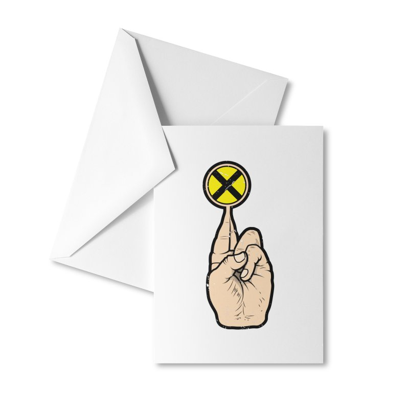 Fingers Crossed Accessories Greeting Card by 9th Mountain Threads