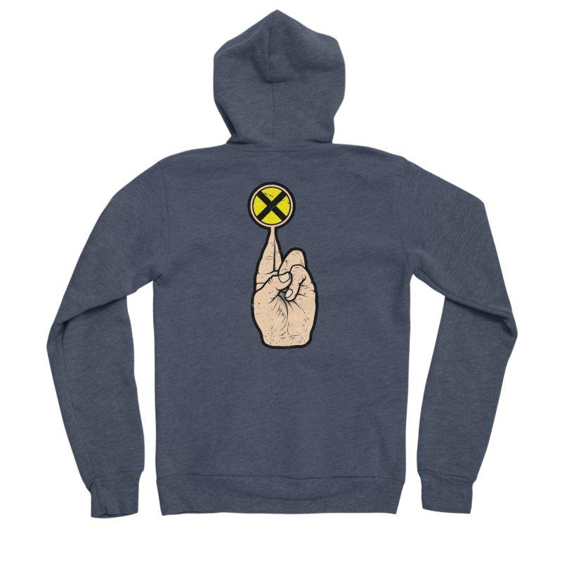 Fingers Crossed Men's Sponge Fleece Zip-Up Hoody by 9th Mountain Threads