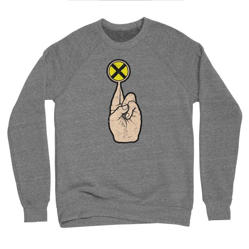 Fingers Crossed Men's Sponge Fleece Sweatshirt by 9th Mountain Threads