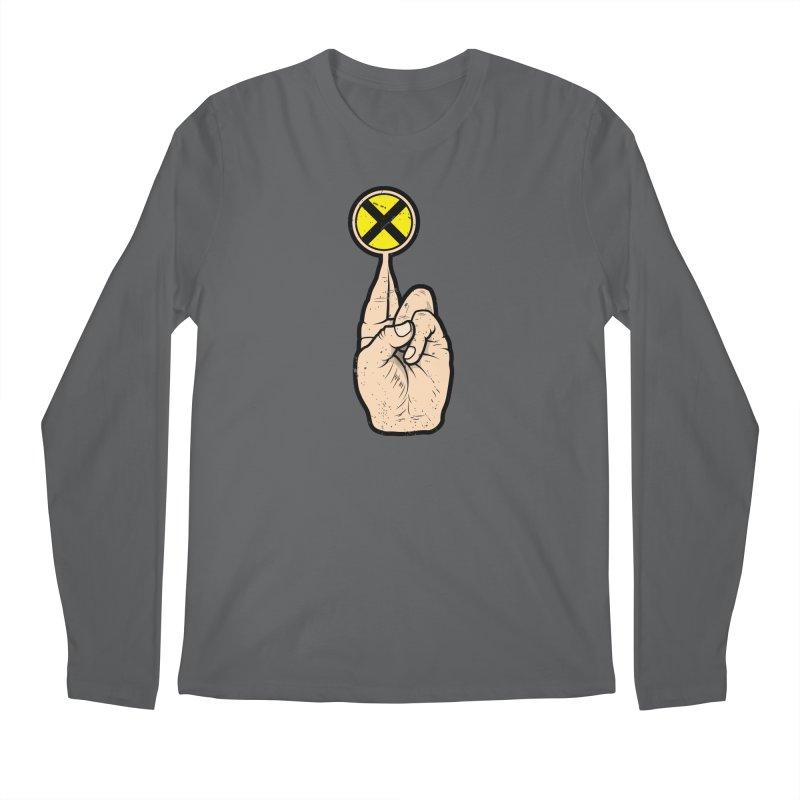 Fingers Crossed Men's Regular Longsleeve T-Shirt by 9th Mountain Threads