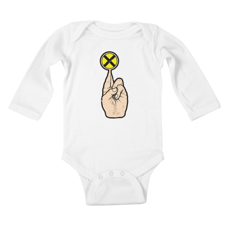 Fingers Crossed Kids Baby Longsleeve Bodysuit by 9th Mountain Threads
