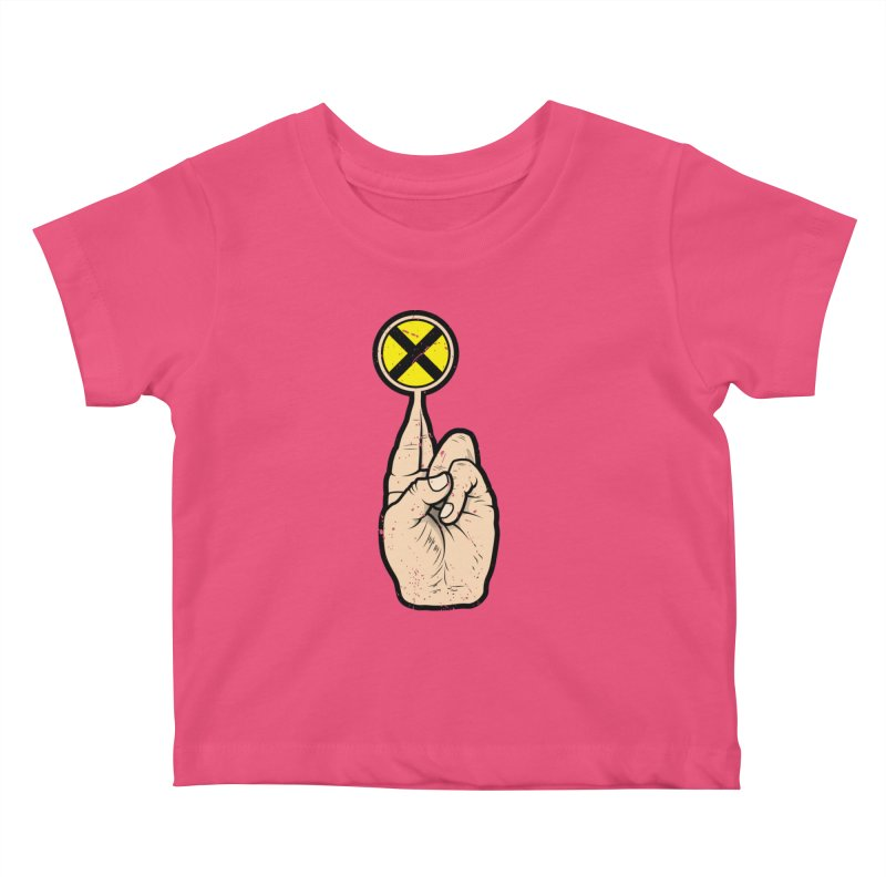 Fingers Crossed Kids Baby T-Shirt by 9th Mountain Threads