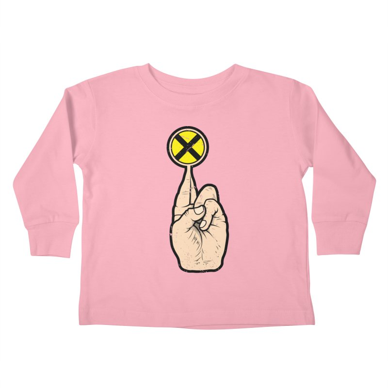 Fingers Crossed Kids Toddler Longsleeve T-Shirt by 9th Mountain Threads