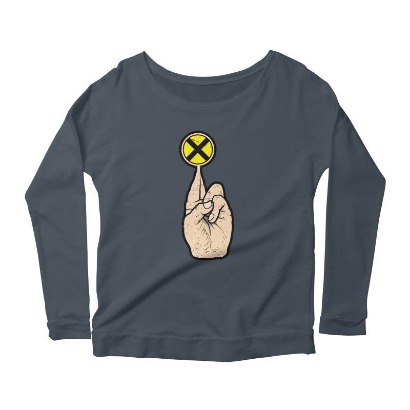 Fingers Crossed Women's Scoop Neck Longsleeve T-Shirt by 9th Mountain Threads