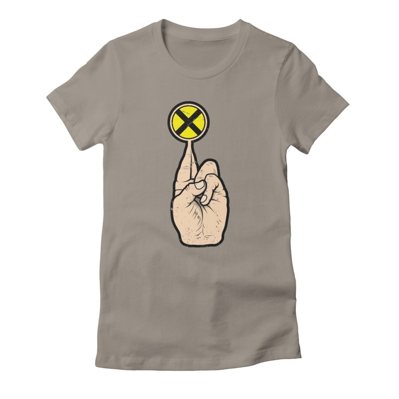 Fingers Crossed Women's Fitted T-Shirt by 9th Mountain Threads