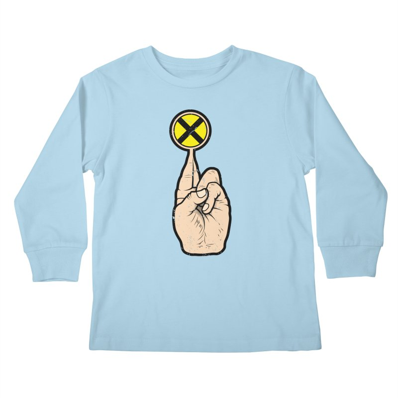Fingers Crossed Kids Longsleeve T-Shirt by 9th Mountain Threads