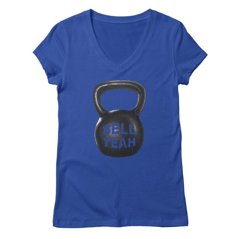 Bell Yeah Women's Regular V-Neck by 9th Mountain Threads
