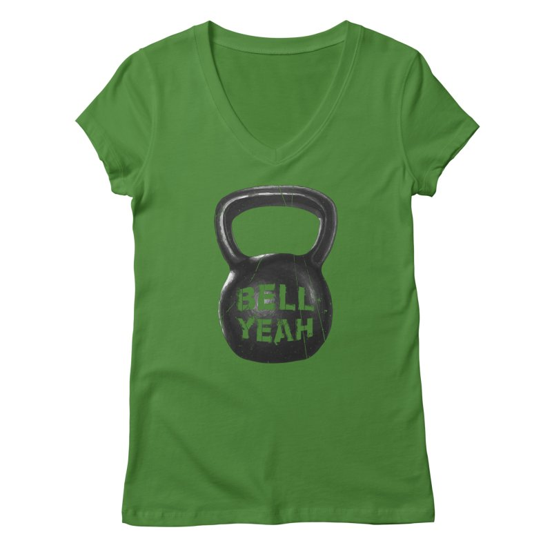 Bell Yeah Women's Regular V-Neck by 9th Mountain Threads
