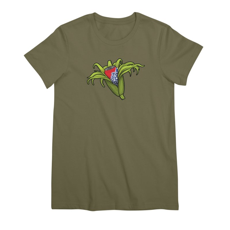 Pop Corn Women's Premium T-Shirt by 9th Mountain Threads