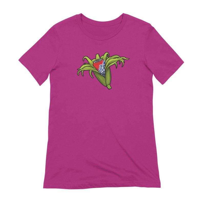 Pop Corn Women's Extra Soft T-Shirt by 9th Mountain Threads