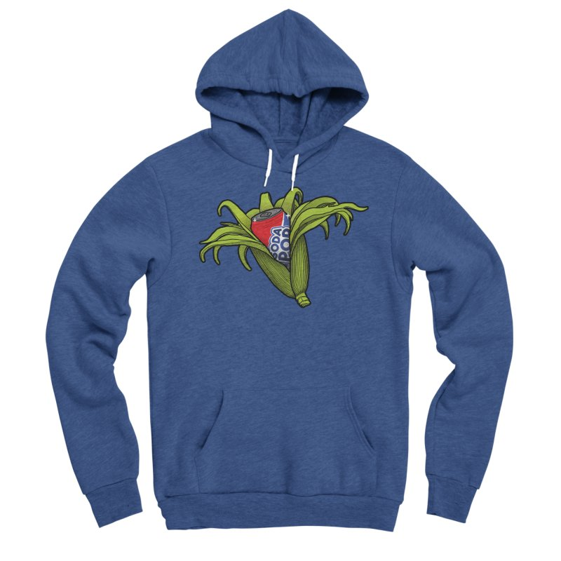 Pop Corn Men's Sponge Fleece Pullover Hoody by 9th Mountain Threads