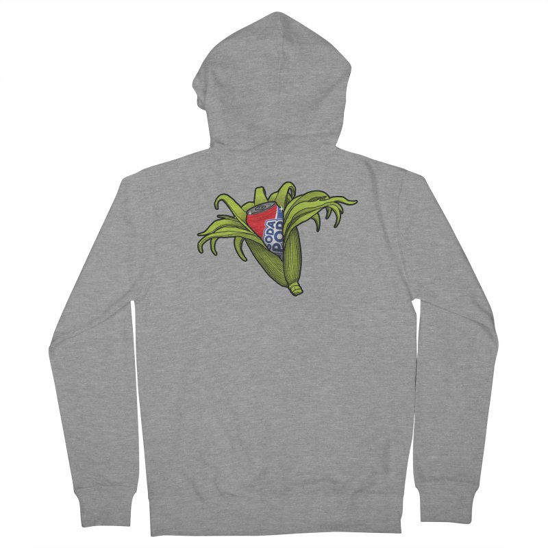 Pop Corn Men's French Terry Zip-Up Hoody by 9th Mountain Threads