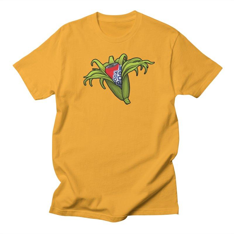 Pop Corn Men's Regular T-Shirt by 9th Mountain Threads