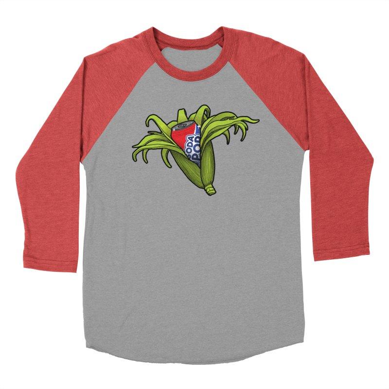 Pop Corn Women's Baseball Triblend Longsleeve T-Shirt by 9th Mountain Threads