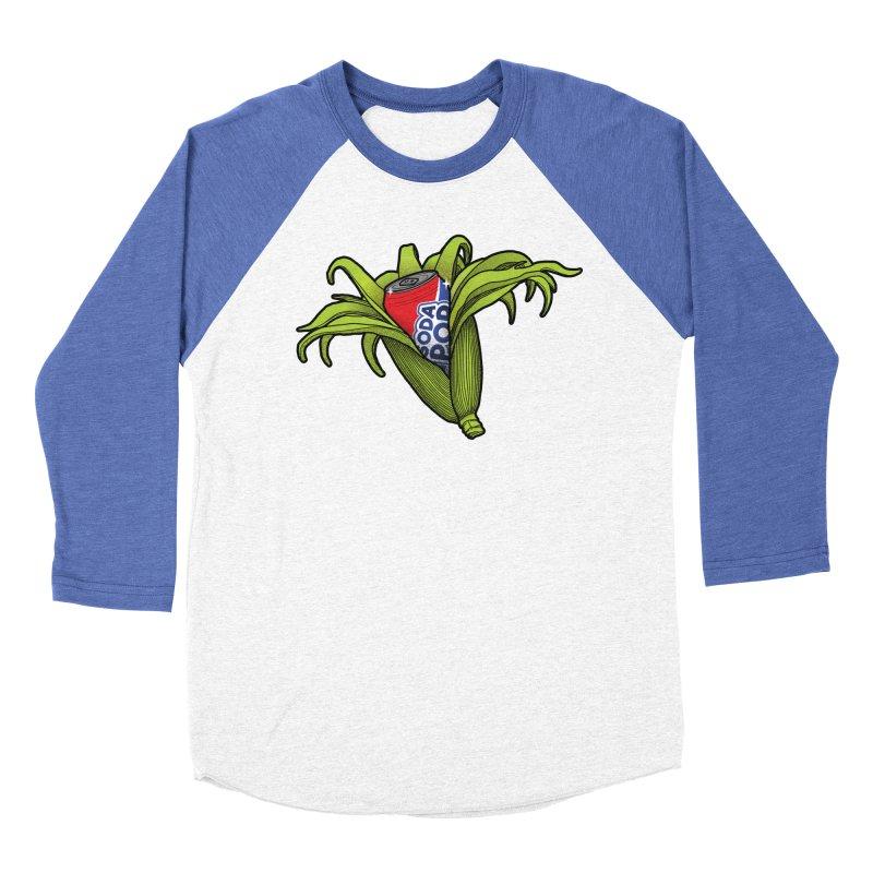 Pop Corn Men's Baseball Triblend Longsleeve T-Shirt by 9th Mountain Threads