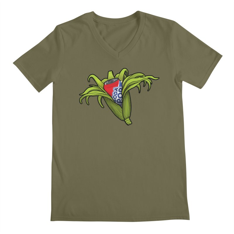 Pop Corn Men's Regular V-Neck by 9th Mountain Threads