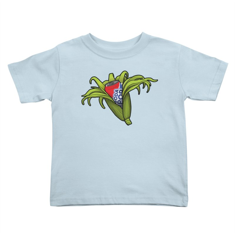 Pop Corn Kids Toddler T-Shirt by 9th Mountain Threads