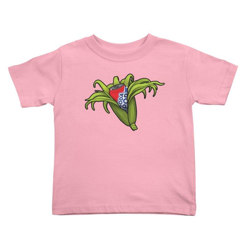 Pop Corn Kids Toddler T-Shirt by 9th Mountain Threads