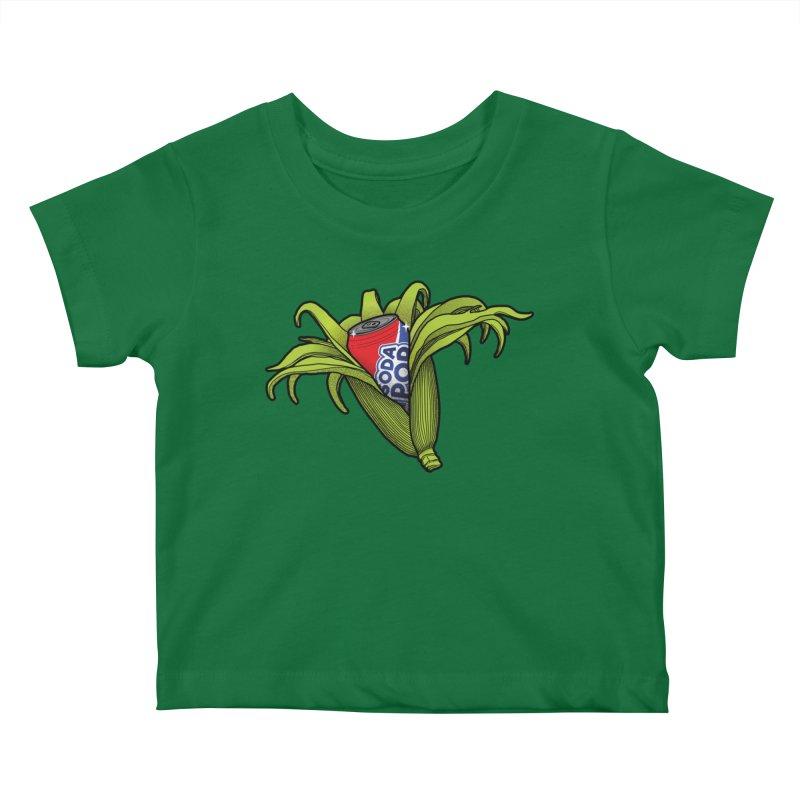 Pop Corn Kids Baby T-Shirt by 9th Mountain Threads