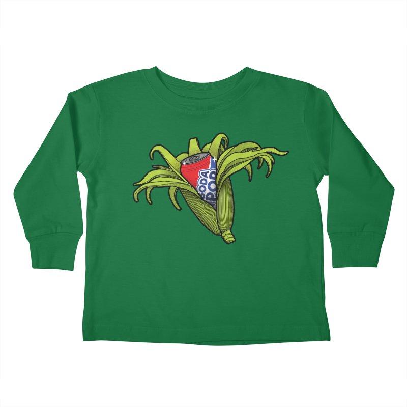 Pop Corn Kids Toddler Longsleeve T-Shirt by 9th Mountain Threads