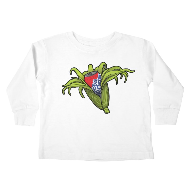 Pop Corn Kids Toddler Longsleeve T-Shirt by 9th Mountain Threads