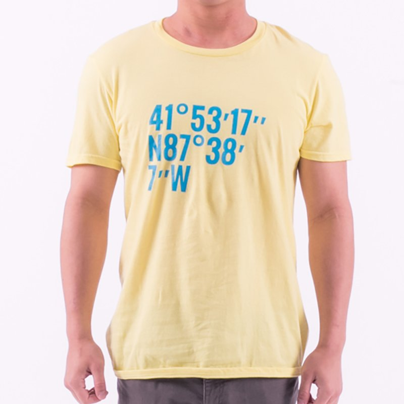 1871 Coordinates in Men's Regular T-Shirt Lemon by 1871's Shop