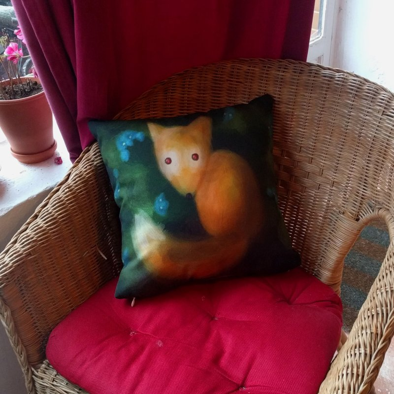 Insomnia is bad for foxes in Throw Pillow by Bezzikapa's Artist Shop