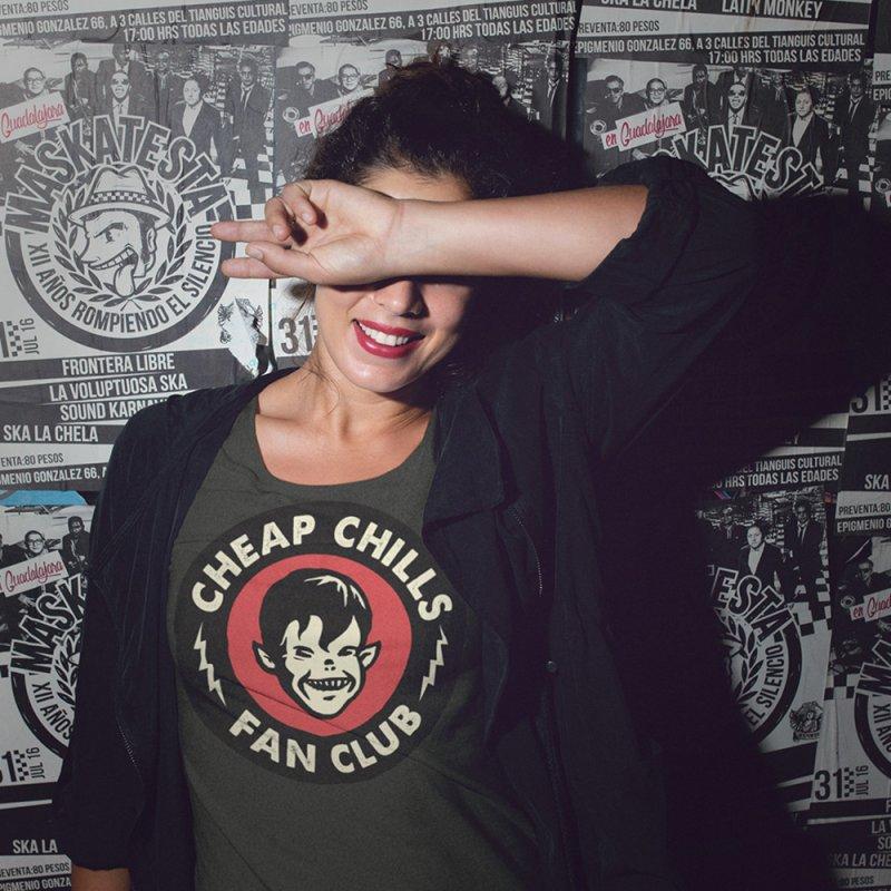 Cheap Chills Fan Club in Women's Fitted T-Shirt Heavy Metal by Cheap Chills Fan Club