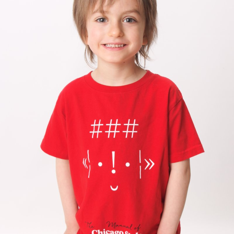 White + Red / Kids' Apparel in  by Chicago Manual of Style