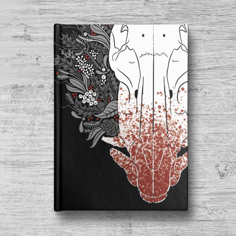 Winter Boar in Blank Journal Notebook by Crowglass Design