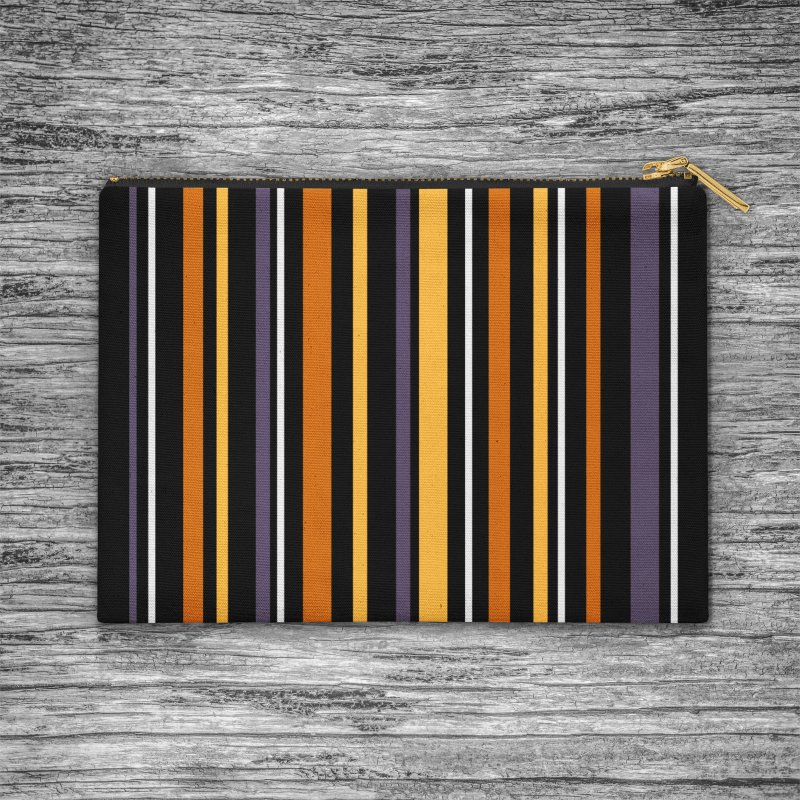 Halloween Stripes in Zip Pouch by Crowglass Design
