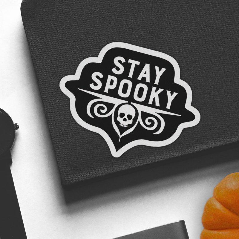 Stay Spooky in White Sticker by Crowglass Design
