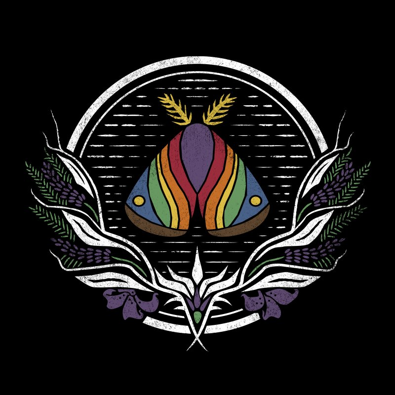Pride Moth by Crowglass Design