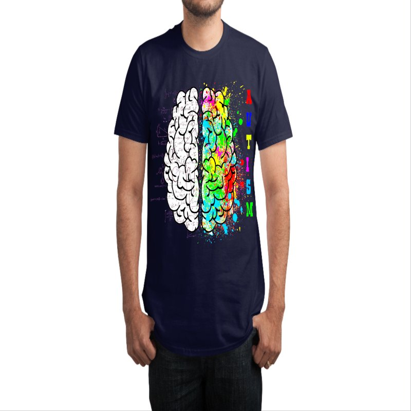 Autism Brain in Men's Regular T-Shirt White by Divinitium's Clothing and Apparel