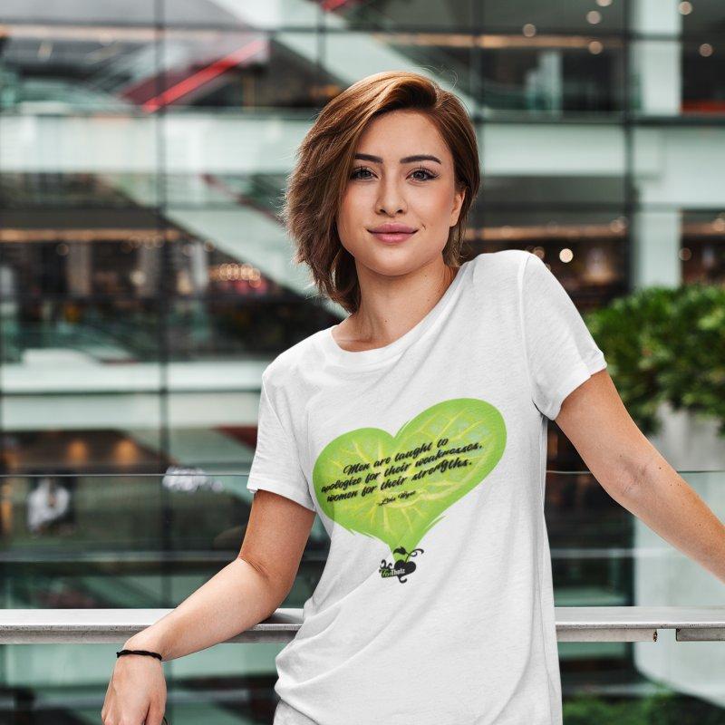 Strengths in Women's Regular Unisex T-Shirt White by FemThotz's Artist Shop