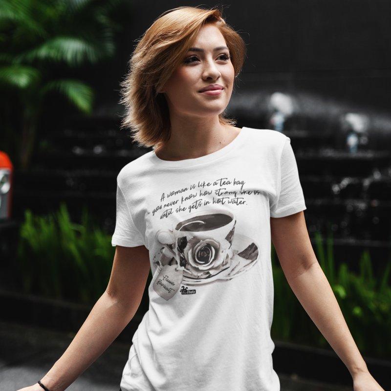 Hot Water in Women's Regular Unisex T-Shirt White by FemThotz's Artist Shop