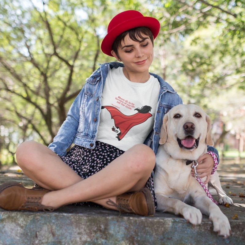 Be the heroine in Women's Regular Unisex T-Shirt White by FemThotz's Artist Shop