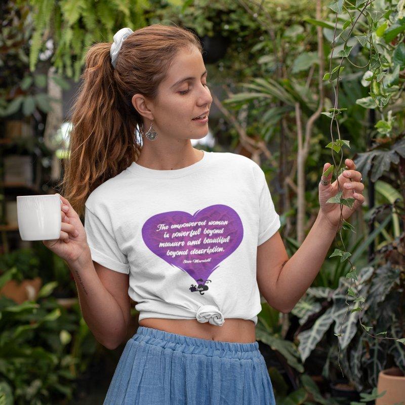 Beyond description in Women's Regular Unisex T-Shirt White by FemThotz's Artist Shop