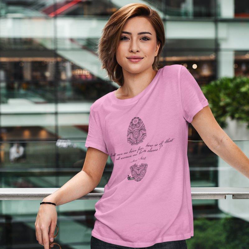 Born slaves in Women's Regular Unisex T-Shirt Light Pink by FemThotz's Artist Shop