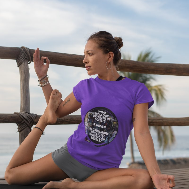Involved as equals in Women's Extra Soft T-Shirt Purple by FemThotz's Artist Shop